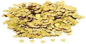 Konfety srdíčka zlatá