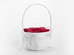 Košíček pro družičku bílý