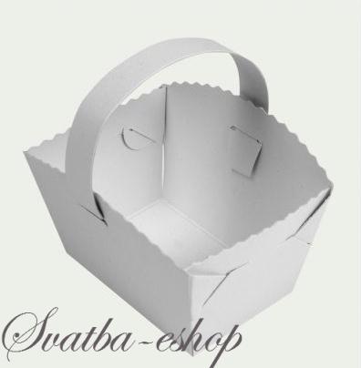 fe164f2a7d Svatební košíček na koláčky - Svatební košíčky na koláčky