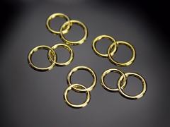 Snubní prstýnky do výslužek zlaté 25 ks