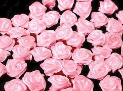 Růžička na svatební vývazek světle růžová 12 mm