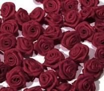 Růžička na svatební vývazek burgundy 12 mm