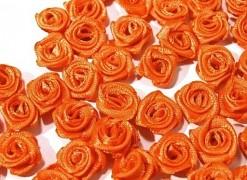 Růžička na svatební vývazek oranžová 12 mm