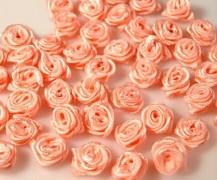 Růžička na svatební vývazek lososová 12 mm