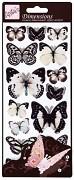 3D samolepky Motýlci bílí