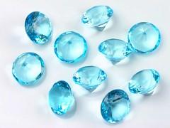 Diamanty světle tyrkysové 20 mm