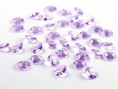 Diamanty světle fialové 12 mm