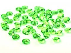 Diamanty jasně zelené 12 mm