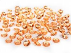 Diamanty světle oranžové 12 mm
