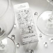 Diamanty čiré mix velikostí malé balení
