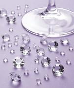 Diamanty čiré mix velikostí