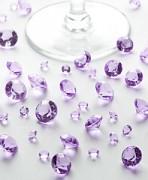 Diamanty světle fialové mix velikostí