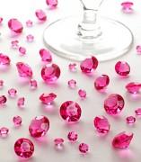 Diamanty sytě růžové mix velikostí