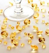 Diamanty žluté mix velikostí