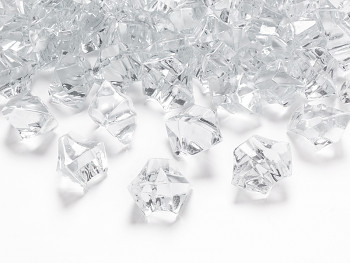 Krystaly čiré 50 ks