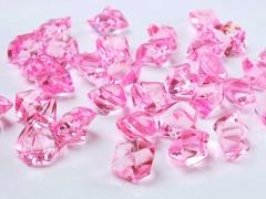 Krystaly růžové 50 ks