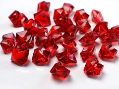 Krystaly rudé 50 ks