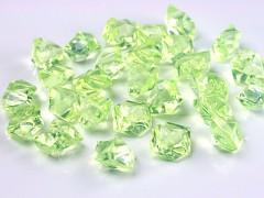 Krystaly světle zelené 50 ks