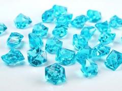 Krystaly světle tyrkysové 50 ks