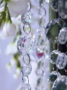 Girlanda krystalky čiré 1 m