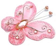 Motýlek světle růžový