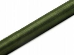 Organza 36 cm x 9 m olivově zelená