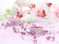 Perličky na silikonu korálově růžové