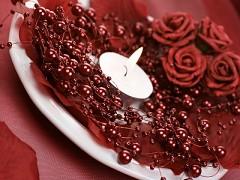 Perličky na silikonu burgundy