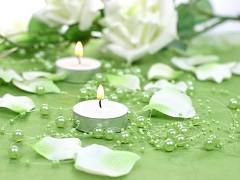 Perličky na silikonu světle zelené