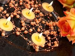 Perličky na silikonu broskvové