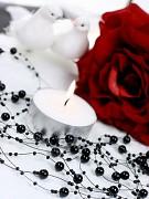Perličky na silikonu černé 5 x 1,3 m