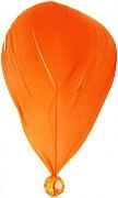 Oranžové peříčko s korálkem
