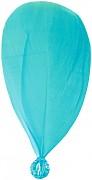Světle tyrkysové peříčko s korálkem