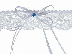 Svatební podvazek bílý č.32