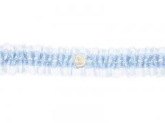 Svatební podvazek modrý č.31