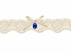 Svatební podvazek ivory č.30