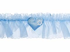 Svatební podvazek  světle modrý č.36