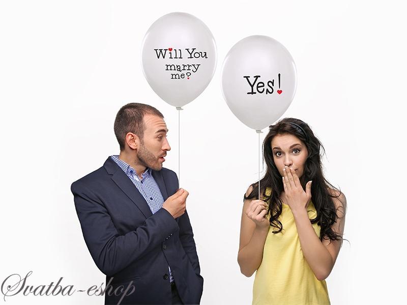 Balonek Will You Marry Me Yes O 33 Cm Balonek 1 Ks Rekvizita Na
