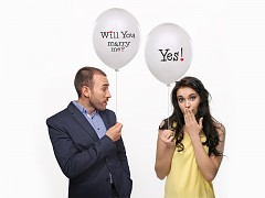 """Balónek """"Will you marry me? Yes"""""""