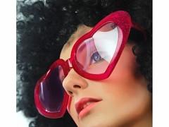 Party brýle srdíčka vínově červená - BIG