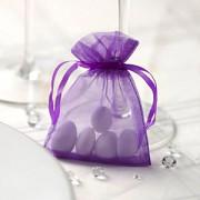 Sáček z organzy fialový