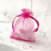 Sáček z organzy sytě růžový