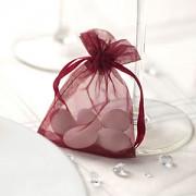 Sáček z organzy burgundy