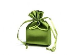 Saténový sáček olivově zelený