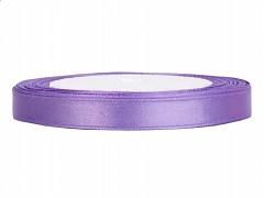 Stuha saténová světle fialová 6 mm x 25 m