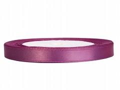 Stuha saténová švestkově fialová 6 mm x 25 m