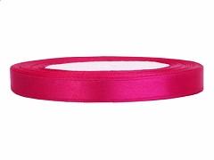 Stuha saténová sytě růžová 6 mm x 25 m