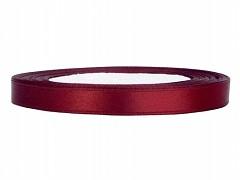 Stuha saténová bordová 6 mm x 25 m