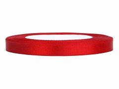 Stuha saténová červená 6 mm x 25 m