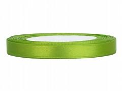 Stuha saténová světle zelená 6 mm x 25 m